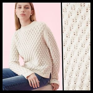 Rebecca Taylor Wool Popcorn Sweater XS Relaxed